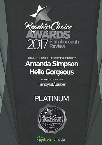 2017 readers choice awards hair stylist amanda
